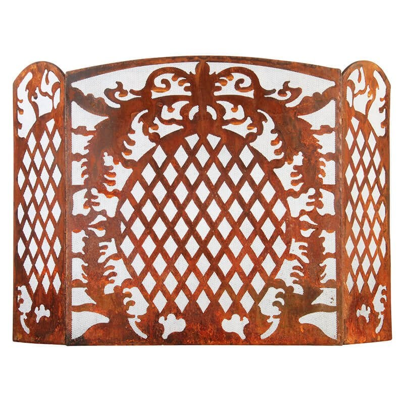 Laser Cut Sheet Metal Fireplace Screen French Lily - Small ...