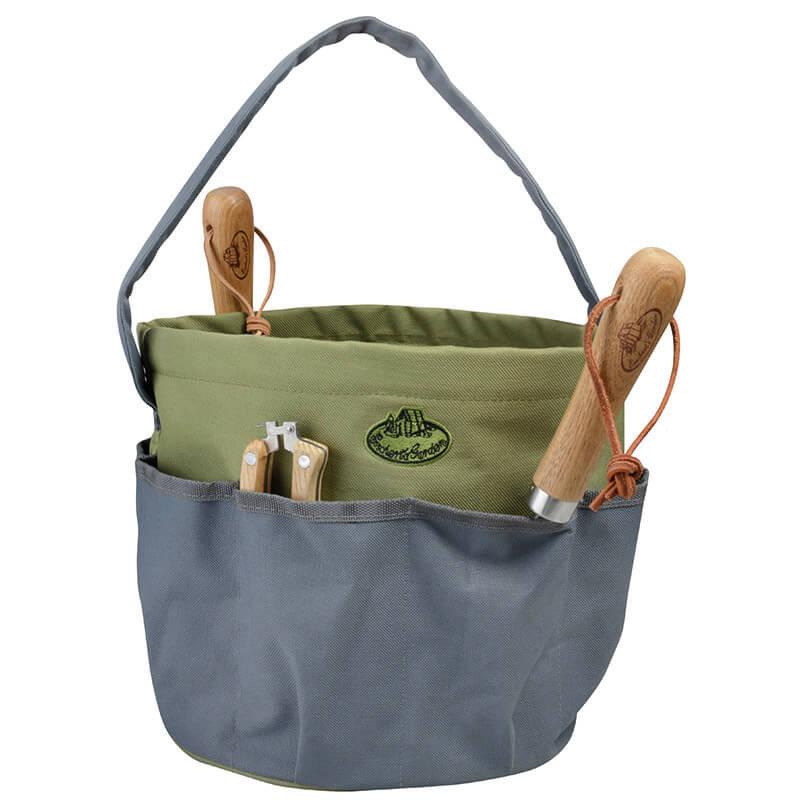 Round Garden Tool Bag Gray Esschert, Canvas Garden Tool Bag