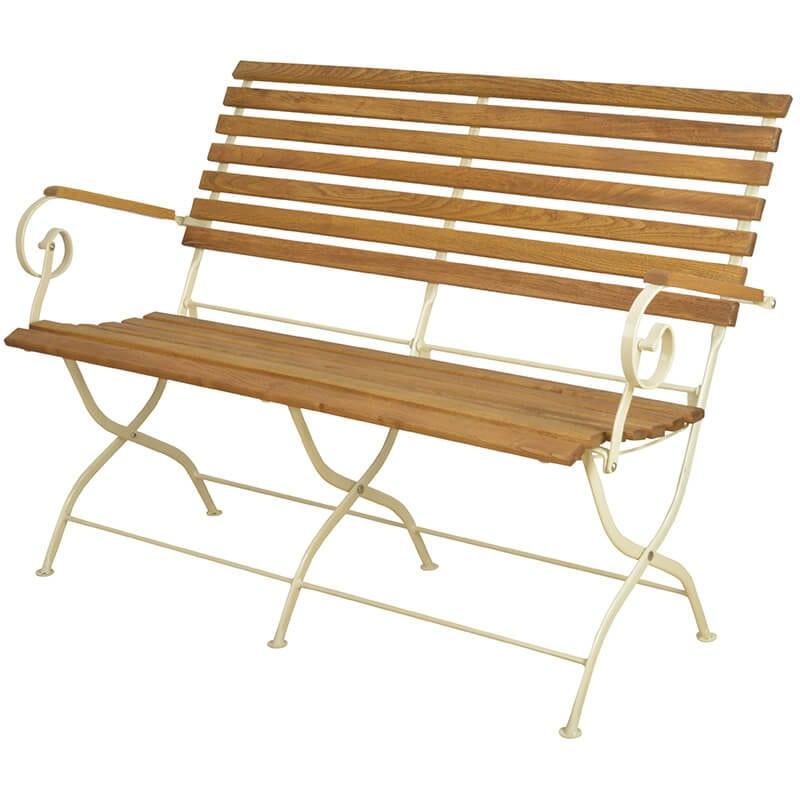 Strange Wooden And Metal Bench In Cream Machost Co Dining Chair Design Ideas Machostcouk
