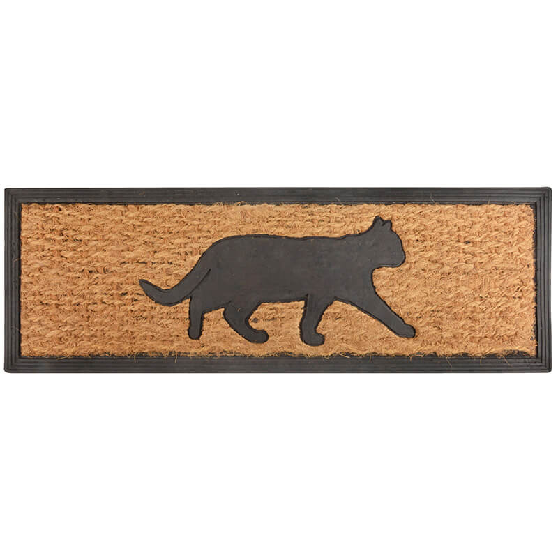 Long Cat Rubber And Coir Doormat