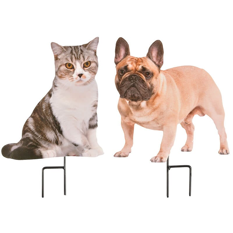 Gentil Dog And Cat Garden Stakes