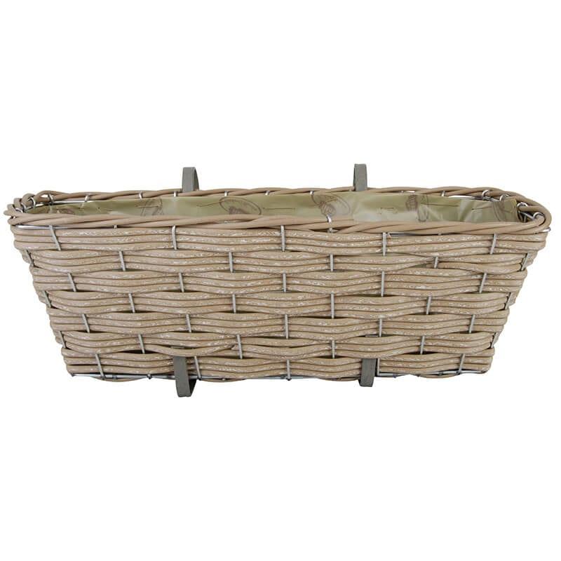 Artificial Wicker Balcony Basket Esschert Design Usa
