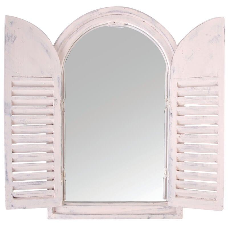 White Window Frame w/ French Doors - Esschert Design USA